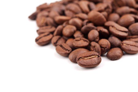 coffee beans isolated on white background Stock Photo - 17706680