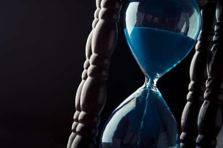 close up of hourglass clock Archivio Fotografico