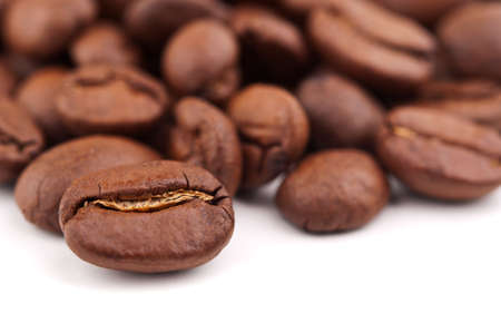 coffee beans isolated on white background Stock Photo - 17706756