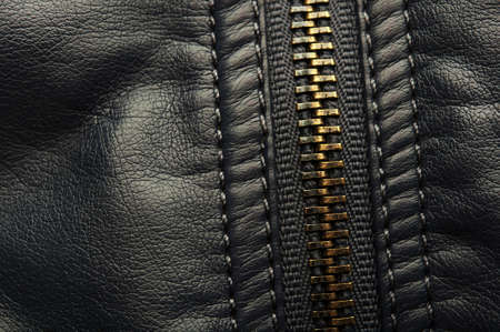closeup of zipper. dark background Stock Photo - 17707186