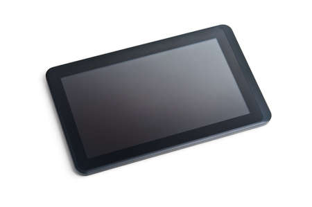 black touchpad isolated on white background