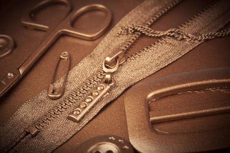 closeup photo of zipper background