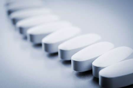 closeup of tablets on background
