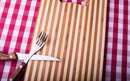 cutting board on a background photo