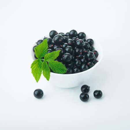 produce energy: fresh currant berry on white background Stock Photo