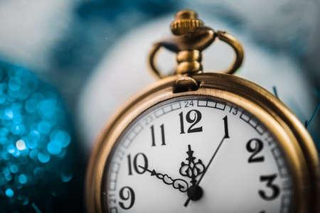 nearly: Nearly twelve oclock. New Years at midnight. Stock Photo