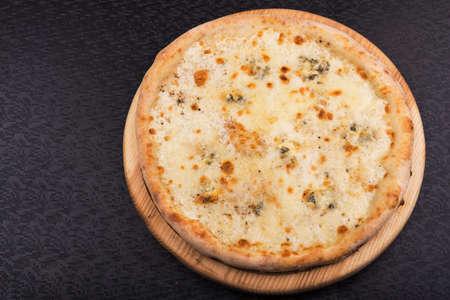 margarita pizza: margarita pizza on wooden board.