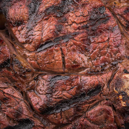 closeup of juicy beef steak texture. macro photo of meat