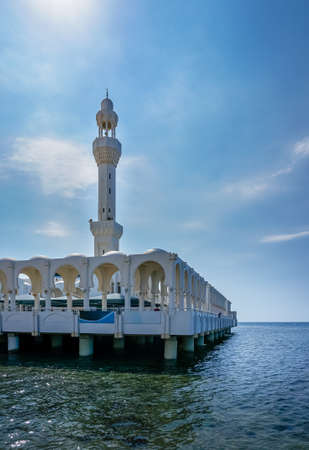 Floating mosque at Saudi Arabia in a daylight