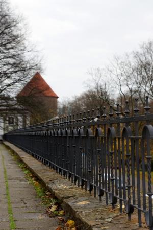 Decoratieve omheining van het paleis van Toompea in Tallinn Estland Europa Stockfoto