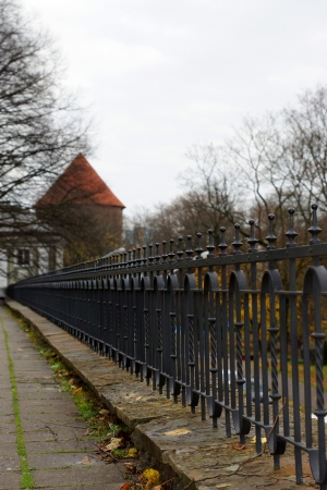 Decorative fence of the palace of Toompea in Tallinn  Estonia  Europe