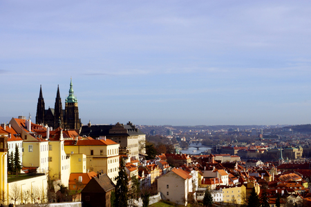 panorama of Prague, Czech Republic, Europe