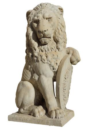 Löwen-Statue in Florenz, isoliert Standard-Bild - 24162688