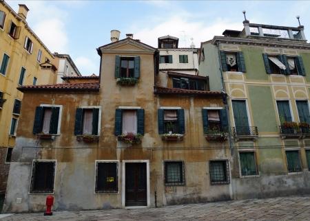 Fachadas Antiguas Casas Venecianas Italia Europa Fotos Retratos - Fachadas-antiguas-de-casas