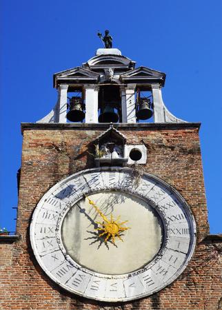 san giacomo: clock on the church of San Giacomo di Rialto in Venice, Italy