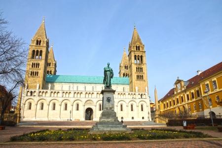 pecs: St Peter and St Paul Baisilica, Pecs, Hungary. Stock Photo