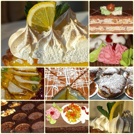 collage of cakes photo