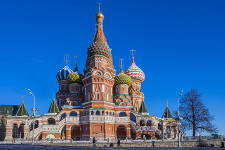 Moscow,Russia,Red square,view of St  Basil photo