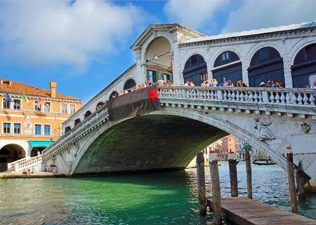 rialto bridge: famous Rialto Bridge in Venice, Italy.