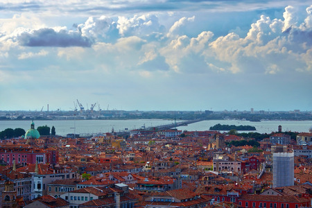 San Marco cupole vista dalle alture, Venezia, Italia photo