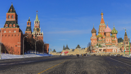 Red Square (Kremlin and St. Basils Cathedral.) Moscow, Russia. photo