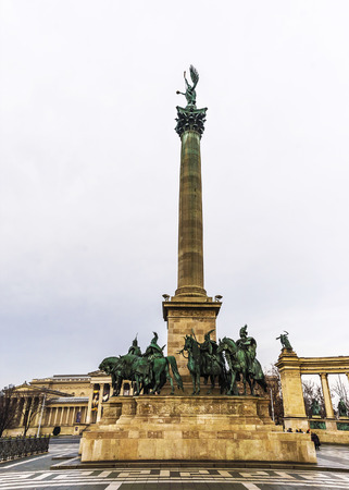 Heroes Square in Budapest, Hungary, Europe photo