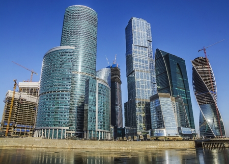 skyscrapers Moscow City. Russia. photo