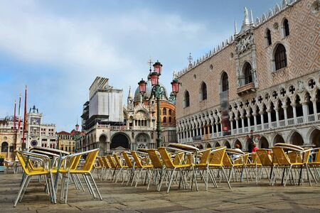 saint mark's: St. Marks Square in Venice, Italy