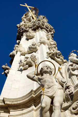 architectural survey: Plague Column on the Buda hills, Budapest, Hungary