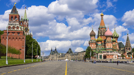 St. Basils Cathedral on Red Square in Moscow, Russia. photo