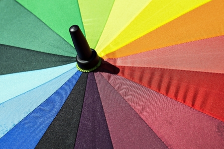 umbrella bright colors photo