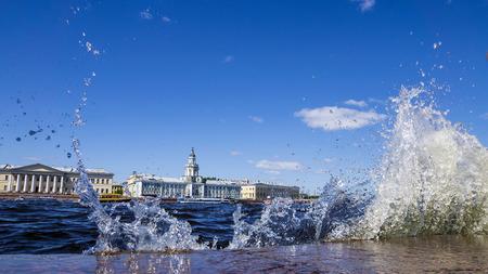Uitzicht op de Neva. St. Petersburg, Rusland
