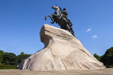 founder: The Bronze Horseman; Symbol of Saint- Petersburg - a monument to the founder of the capital of the Russian Empire, Emperor Peter the Great