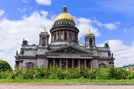 isaac s: St. Isaacs Cathedral in St. Petersburg, Russia Stock Photo