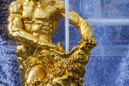 Samson fountain in Peterhof photo