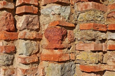 paredes de ladrillos: ladrillo viejo Foto de archivo
