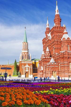 La Plaza Roja, Moscú, Rusia Editorial