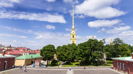 st peter s square: Peter and Paul Fortress, St. Petersburg