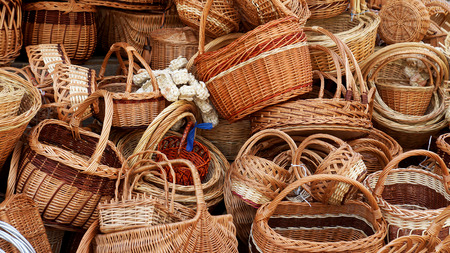 handmade wicker basket 版權商用圖片