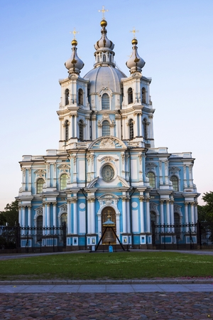 and st petersburg: Smolny Cathedral, St. Petersburg (white night)
