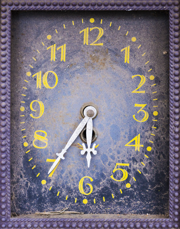 ancient pass: dial old clock