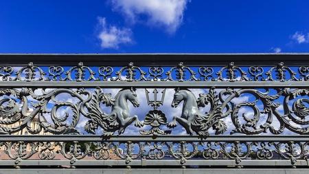 blagoveshchensky: Annunciation bridge in St. Petersburg, Russia Stock Photo