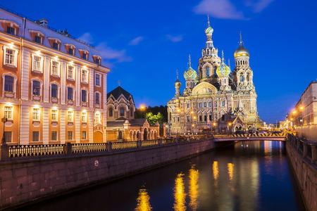 Glise du Sauveur sur le sang, Saint-Pétersbourg, Russie Banque d'images - 35232592