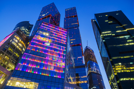 international business center: MOSCOW, RUSSIA - AUGUST 8: Moscow International Business Center, Moscow City, August 8, 2014 in Moscow. International Business Center is one of the largest construction projects in Europe