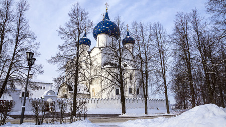 Suzdal Kremlin, Russia (Winter Landscape) photo