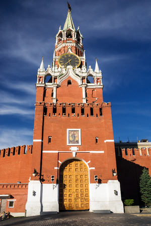 spasskaya: Spasskaya tower on Red Square, Moscow, Russia