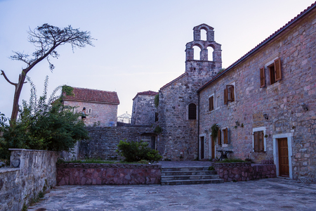 montenegro: Budva, old town. Montenegro Editorial