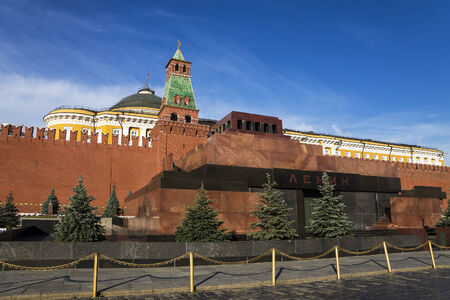 mausoleum: Lenins Mausoleum on Red Square in Moscow