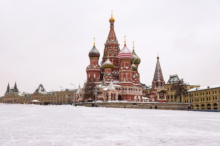St. Basils Cathedral, Moscow, Russia (winter view)