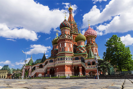 basil: St. Basils Cathedral on Red Square in Moscow, Russia.